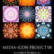 """MEDIA-ICON PROJECT'08・""""Poster""""/複数者それぞれの個人的な意図に基づいた2点の自己撮影写真をベースに、複数のマンダラパターンを生成し融合させたもの。CGにより砂曼荼羅の制作プロセスをイメージし、コラボレーションによる非予定調和的な表現と、複数の画像を融合させる事による新たな造形及び意味の創出を試みています。【2008/B1/Poster】"""