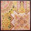 ________________________ 横浜40周年スカーフデザインコンテスト出展1996年 日本絹人織織物工業会賞  ________________________ 90cm×90cm/ポスターカラー、インク(スカーフ原画)