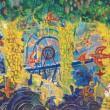横浜の未来のコミュニティ:逸見恒沙子/園田紗希/下/村渚野本有紀/立川美圭/遠藤優貴/女子美術大学芸術学部3年(洋画・日本画専攻)有志6名 - 開港150年を記念して、大型の150号キャンパスに「ヨコハマの未来の町」をのびやかに描くライブペインティングに、女子美術大学の有志6名が挑戦しました。 それぞれが力をあわせて未来を描く大型作品をぜひご覧ください。【アクリル絵の具/キャンパス150号 207 × 145】