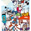 __________________ 音楽をきっかけにSTREET ARTに刺激を受け、2001年から地元横浜を拠点にART活動を開始。同時期にスタートした音楽イベントFUNのART WORKSを担当。その経験を生かし広告. CDジャケット. LIVE PAINT. アパレル等の活動を開始。またNYで単独LIVE PAINTツアーのオファーやNY ARTの4年間をまとめたART BOOK集に参加。その他海外メジャーアーティストのCDジャケットを手掛ける。常に音楽とARTと共に過ごした結果、音符LOGOが誕生。以後、数々のART WORKSに登場し、音符の人として知られるようになる。近年、アパレルブランドFUNを立ち上げYOKOHAMA BOYSを展開。 YOKOHAMA大好き 音楽大好き 手描き大好き photoshop大好き それがKIRARIN!  __________________ 手描き&photoshop