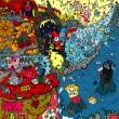 「モモイロヒツジ」というキャラクターが「とある世界をジャックする」というコンセプトの作品 【1000×2000(mm)/インクジェットプリント】