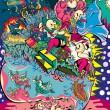 「モモイロヒツジ」というキャラクターが「とある世界をジャックする」というコンセプトの作品第3弾 【720×970(mm)/インクジェットプリント】