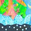 名作童話や詩をモチーフにした水彩の作品を展示します。オリジナルの世界観を出していきたいと思っております。【210mm×297mm(A4)/画用紙に水彩】