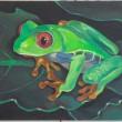 ずっと飼いたいと思っている動物を描きました。【530×455mm /油彩、キャンバス】