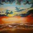 小さいときから海や雲や星が好きで、そういうものばかりを好きな時に好きなだけ 描いてます。【910×727mm /油彩】