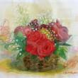 【市川 七重/Ichikawa Nanae - 薔薇1/rose1】〈240×280/水彩画〉