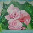 【内田 美香/Mika Uchida - 花のなまえ/Name of flowers】白いレース越しから見える、屋外の薔薇のある風景を描きました。2012年女子美術大学大学院美術研究科美術専攻 洋画研究領域修了〈キャンバス、アクリル 〉