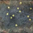 【浮游/fantastic】暮らしのなかの、あまのがわ(150×100mm/紙、くるみ、岩絵具、金箔)