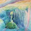 新井 久美子:森水 - 【650×530mm/水彩】森の中の神秘を現した作品。2012年女子美洋画卒