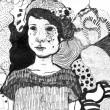 齋藤 歌織:明日への希望 - 【210 × 297mm/ペン】感情があること、心がうごめくことが幸せであることを線で描きました。2012年女子美洋画卒