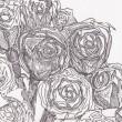 【伊藤 沙也香/ITOU Sayaka - みんなで】花のある場所には、人を集める力があります。人の心を集めるような花の魅力を描きたいです。 ― 2012年 女子美術大学絵画学科洋画専攻卒業〈175mm×126mm /ペン〉