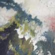 【大橋美舟/Ohashi Mifune - mossi】2013 湿度とともに増殖する意識。〈300×300mm /麻紙、岩絵具〉