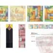 イ・ジュヒョン[李珠睍]【韓国】:BOJAGI - 本作品は一枚一枚ずつ布切れを繋いで作られた韓国の風呂敷の形状を応用して制作した伝統文様のデザインアイテムである.これらのアイテムは貴重なものを包む風呂敷の性能も復元しており,大切な記憶を保管する額縁及びハガキなどがその商品である。【30cm*40cm/Print out】