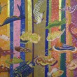 川畑里枝:蠢く(うごめく) - 女子美術大学大学院美術研究科美術専攻修士課程日本画研究領域1年。女子美術大学卒業後、20年以上の社会人生活を経て、2014年4月に大学院に入学しました。岩絵具の美しさ、技法の多様性、大学で共に学ぶ仲間たちの表現のみずみずしさに魅せられながら、日々、日本画と楽しく格闘しています。【F50号×2枚 1167×1820ミリ/雲肌麻紙、岩絵具、箔】