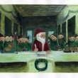 C.Waiwan(チャイセンジャン・ワイワン)【タイ】:最後のクリスマス (THE LAST CHRISTMAS) - 最後の晩餐を元にした作品です。 クリスマスをコンセプトにして、自分らしく絵を描きました。【210x297(A4)/アクリル 】
