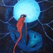 牧 阿佑美:美しい光に捕まった少女の物語 - 日常に潜む忘却した声を具現化するための物語を描いています。2013年 女子美術大学大学院美術研究科修士課程洋画専攻領域 研究生修了【アクリル キャンバス/445 ×380 mm】