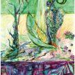 新井 久美子:pray1 - 天使の祈り. 2012年 女子美術大学芸術学部絵画学科洋画専攻卒【148×100 mm /メディアミックス】