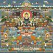Ouyang Zixuan(オウヨウ・シセン)【中国】:敦煌/DunHuang - 莫高窟内の仏像、壁画は精緻なもの、巨大な迫力のあるものが入り乱れ、見応えがある。別世界に入り込んだような錯覚を覚える。【1500×1500/画布】