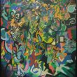 川端泰弘:無題 - 抽象的な絵が好きです。フリーター、作家【1000x803mm /水性ペン・アクリル】