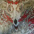 井上果波:怒り - 牛骨に登り龍の様なテイストを混ぜました。現在、武蔵野大学通信教育部に在学中【350×240mm /筆ペン・ミリペン・コピック・薄めた珈琲】