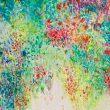 岡田敬子:かおるのはすきまから2 - かおるような花を表現してみました 2010年女子美術大学卒業 現在中学校高等学校美術非常勤講師【606×727mm/水彩、パネル】