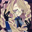 黒奈:タイトル未定 - 儚く 少しアンニュイな雰囲気な少女です。 フリーランスイラストレーター【A4大 /アクリルガッシュ】